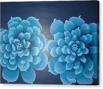 Blue Autum Canvas Print by Sarah England-Rocca