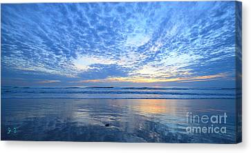 Beach Home Blues 24x36 Inch On Sale Canvas Print by John F Tsumas