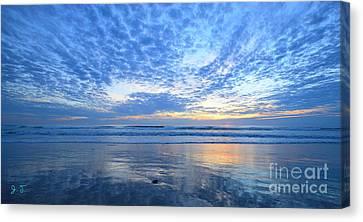 Canvas Print featuring the photograph Beach Home Blues by John F Tsumas