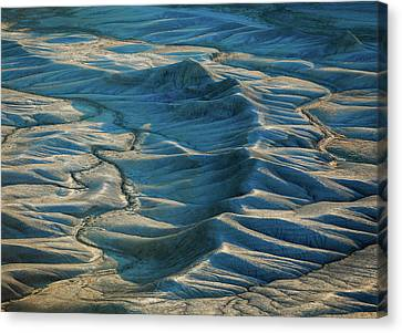 Canvas Print featuring the photograph Blue Badlands by Johnny Adolphson
