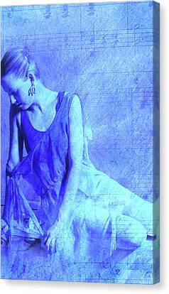 Blue Ballerina  Canvas Print by Joe Klune