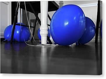 Blue Balloons Canvas Print