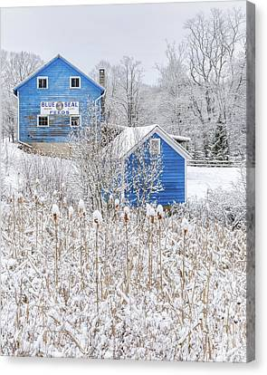 Blue Barns Portrait Canvas Print by Bill Wakeley