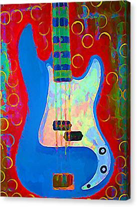 Blue Bass Canvas Print by Gregory McLaughlin