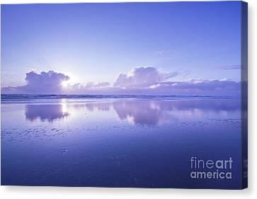 Blue Beach Canvas Print by Masako Metz