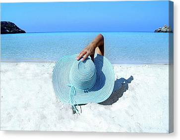 Blue Beach Canvas Print