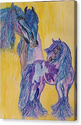 Blue Beauties Canvas Print by Connie Valasco
