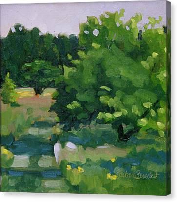 Blue Bird Alley Canvas Print by Barbara Jones