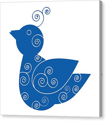 Blue Bird Canvas Print by Frank Tschakert