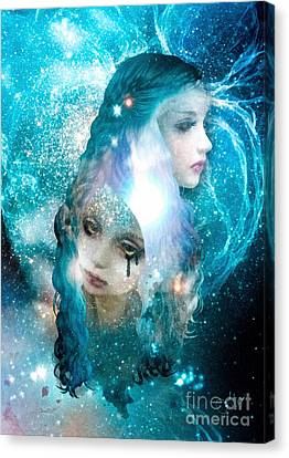 Blue Blood Canvas Print by Mo T