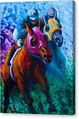 Jumping Horse Canvas Print - Blue Bloods by Marion Rose