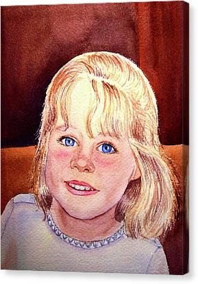 Blue Blue Eyes Canvas Print by Irina Sztukowski