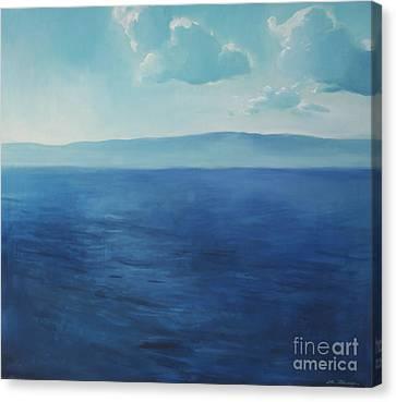 Blue Blue Sky Over The Sea  Canvas Print