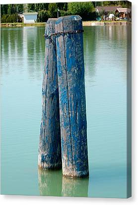 Blue Boat Piles Canvas Print by Dorothy Berry-Lound