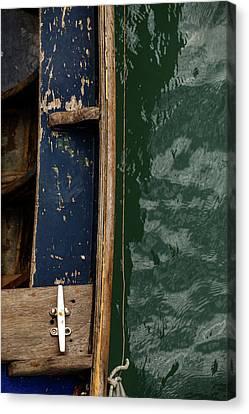 Canvas Print - Blue Boat, Venice by Art Ferrier