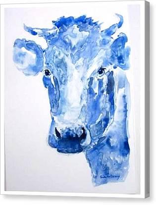 Blue Bonnet  Canvas Print by Sue Prideaux