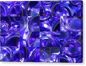 Blue Bottle Bottoms Canvas Print
