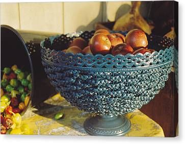Blue Bowl Canvas Print by Jan Amiss Photography