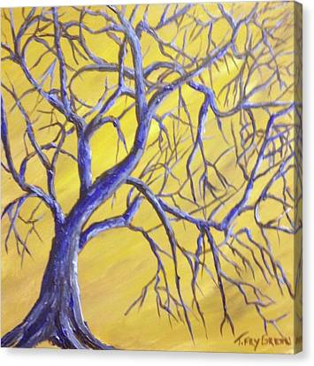 Branches Of Blue Canvas Print