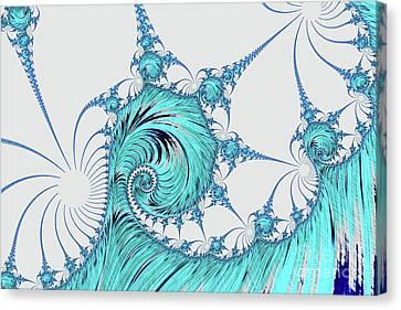 Blue Breaker Canvas Print by Steve Purnell