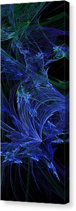 Blue Breeze Canvas Print by Andee Design