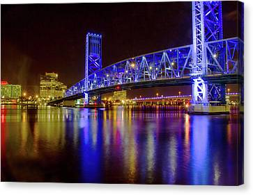Canvas Print featuring the photograph Blue Bridge 2 by Arthur Dodd