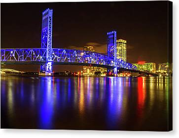 Canvas Print featuring the photograph Blue Bridge 3 by Arthur Dodd