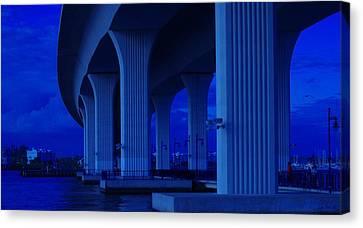 Us1 Canvas Print - Blue Bridge by Don Youngclaus