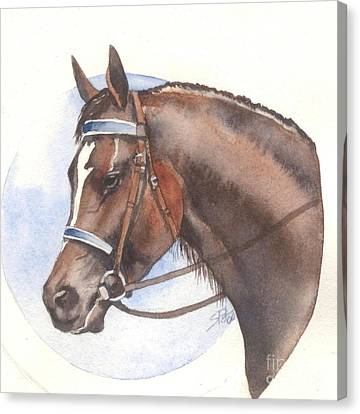 Canvas Print featuring the painting Blue Bridle by Sandra Phryce-Jones