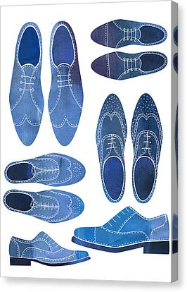 Blue Brogue Shoes Canvas Print by Nic Squirrell