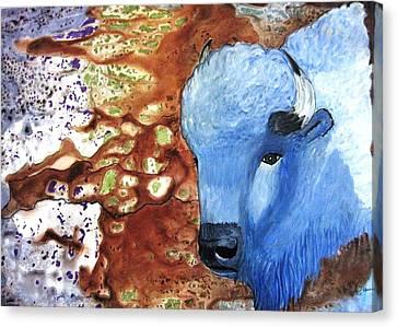 Blue Buffalo Canvas Print by David Raderstorf