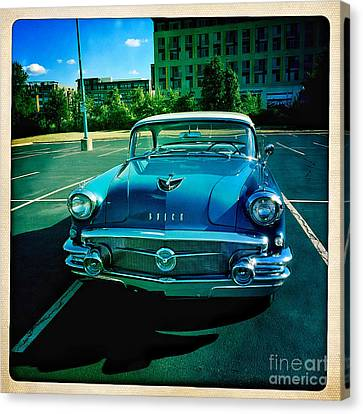 Blue Buick Canvas Print by Terry Rowe