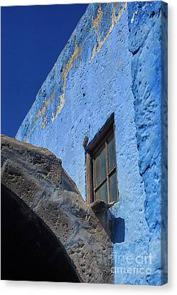 Canvas Print - Blue Building by Patricia Hofmeester