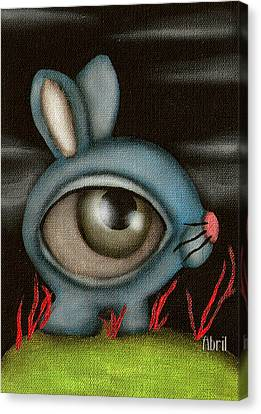 Blue Bunny Canvas Print by  Abril Andrade Griffith