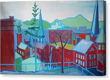 Blue Burlington Canvas Print by Debra Bretton Robinson