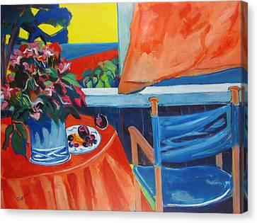 Blue Canvas Chair Canvas Print