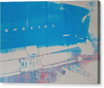 Blue Car Canvas Print by David Studwell