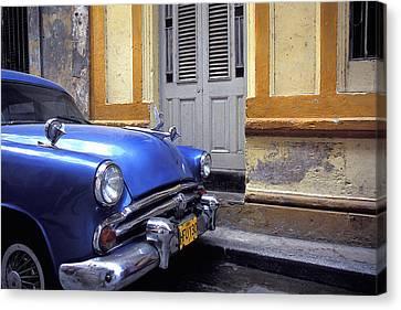 Blue Car Canvas Print