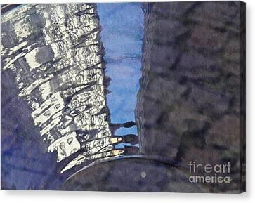 Blue Ceramic Bowl In Eltville 3 Canvas Print by Sarah Loft