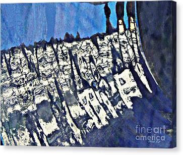 Ceramic Bowl Canvas Print - Blue Ceramic Bowl In Eltville 4 by Sarah Loft