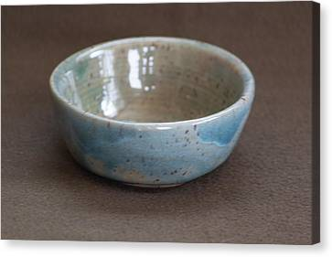 Blue Ceramic Drippy Bowl Canvas Print by Suzanne Gaff