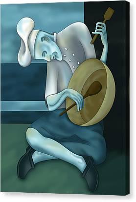 Blue Chef Canvas Print