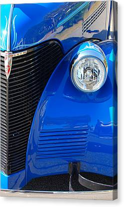 Blue Chevy Canvas Print by Donna Bentley