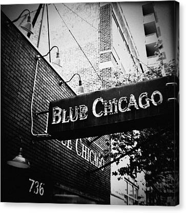 Blue Chicago Nightclub Canvas Print