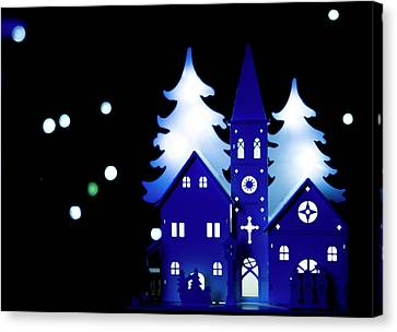 Blue Christmas. Canvas Print
