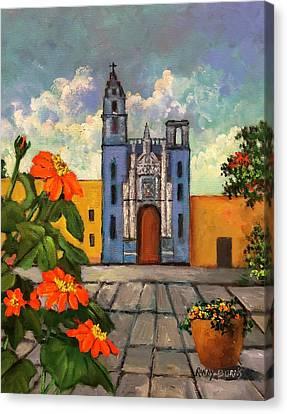 Blue Church   Iglesia Azul Canvas Print