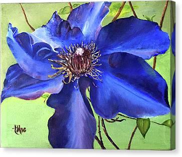 Blue Clematis Canvas Print