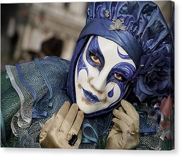 Blue Clown Canvas Print by Stefan Nielsen