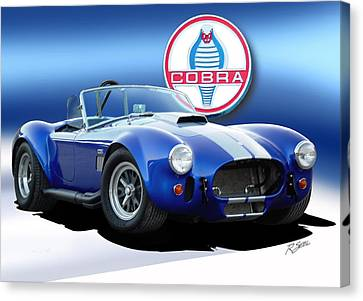 Blue Cobra Canvas Print by Rod Seel