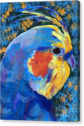 Blue Cockatiel Canvas Print